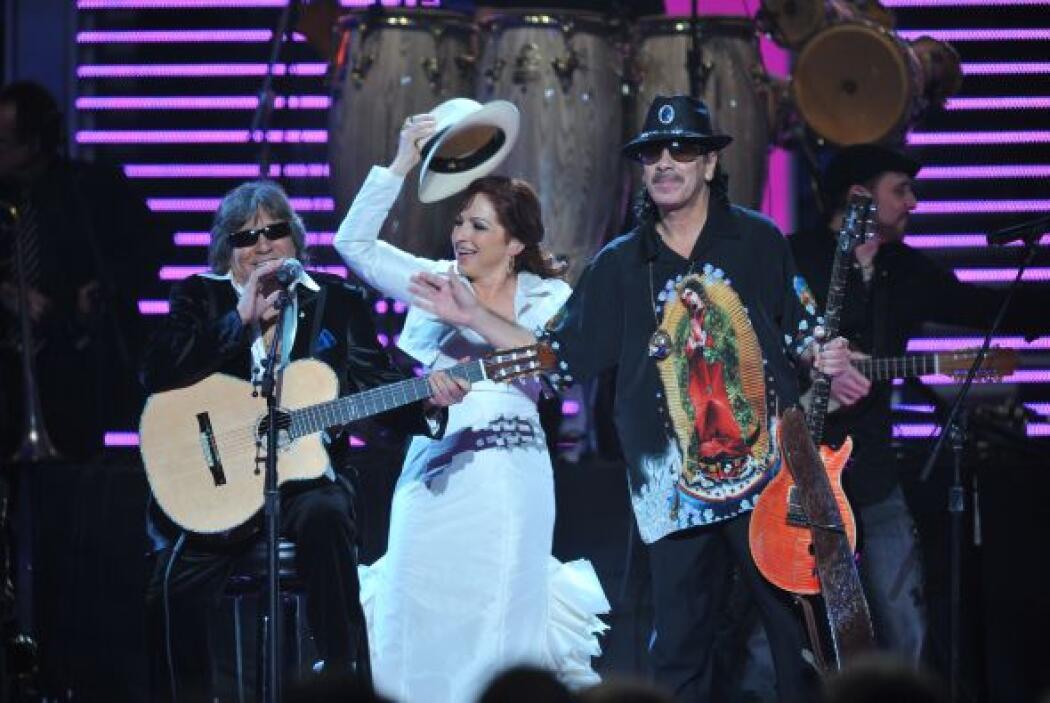 Gloria Estefan fue inolvidable con su interpretación de 'Mi Tierra'.