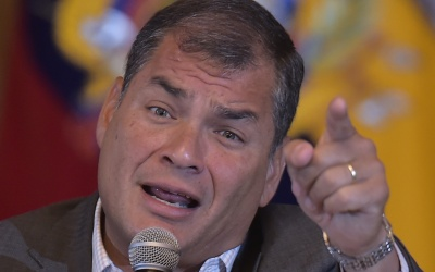 Rafael Correa, presidente de Ecuador