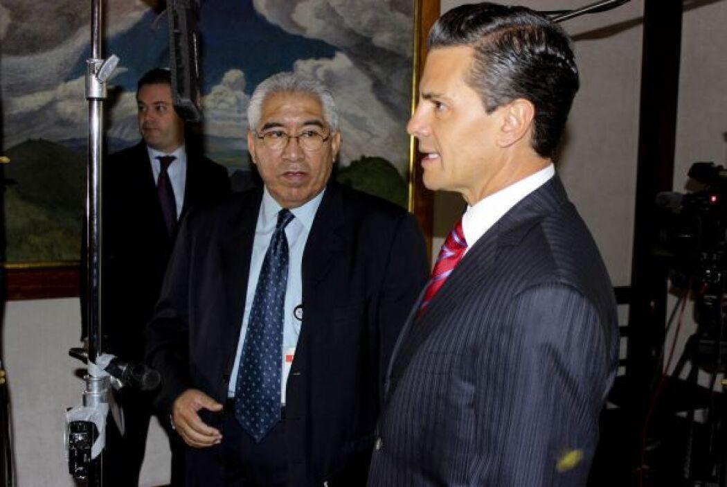 En la entrevista, Peña reconoció que el Cisen mantiene una estrecha cola...