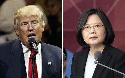 Donald Trump y Tsai Ing-wen, presidenta de Taiwán