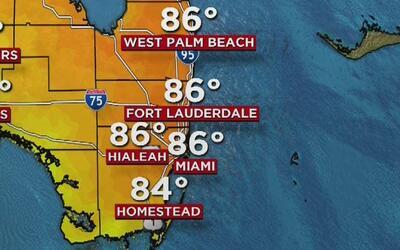 Viento fuerte y mucho calor para este miércoles en Miami