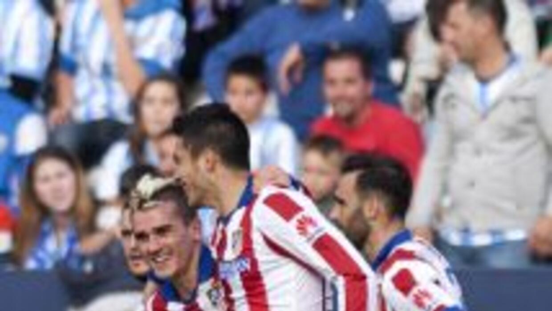 El delantero francés anotó los dos goles rojiblancos en Málaga.