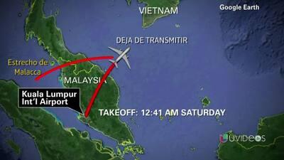 El avión de Malasia Airlines desvió su curso
