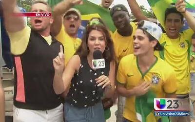 El Brasil vs Colombia desbordó las pasiones de sus hinchas en Miami