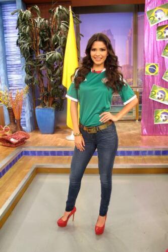 Ana Patricia siempre fiel a México.