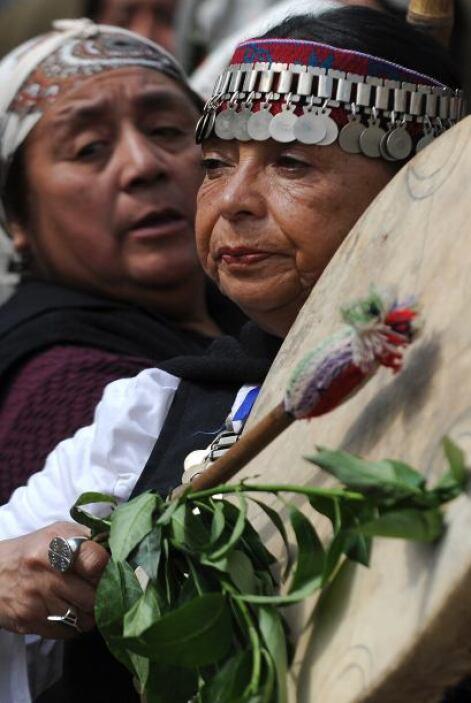 """""""Los mapuches -recalcó- no somos terroristas. Somos un pueblo ancestralm..."""