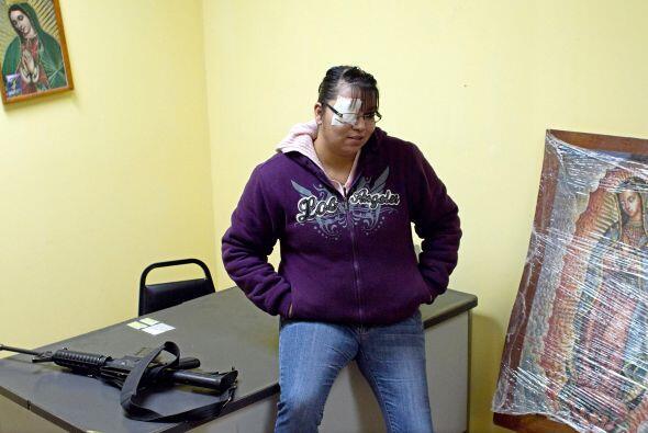 Otra que le ha hecho frente al crimen es Ericka Gándara, quien patrulla...