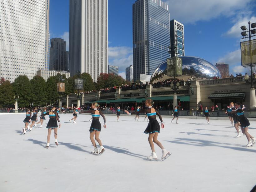 Ya abieron la pista de hielo en el Millennium Park