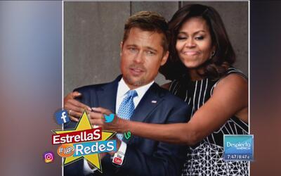 ¿Michelle y Brad? Mira los memes en torno a la Primera Dama por una abra...