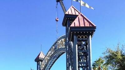 El arco de la entrada del HemisFair Park será derribado como parte de lo...