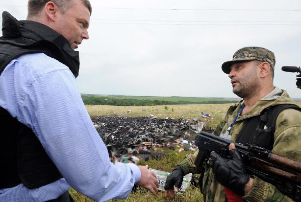 La OSCE estuvo durante 75 minutos en el lugar del suceso.