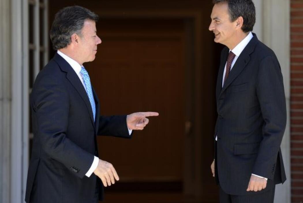 En su visita Santos habló del presidente venezolano, Hugo Chávez 'decimo...