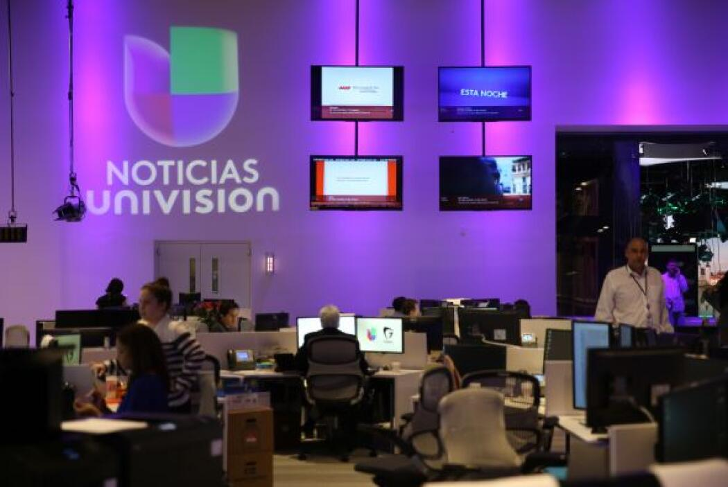 Vista de parte del newsroom de Noticias Univision.