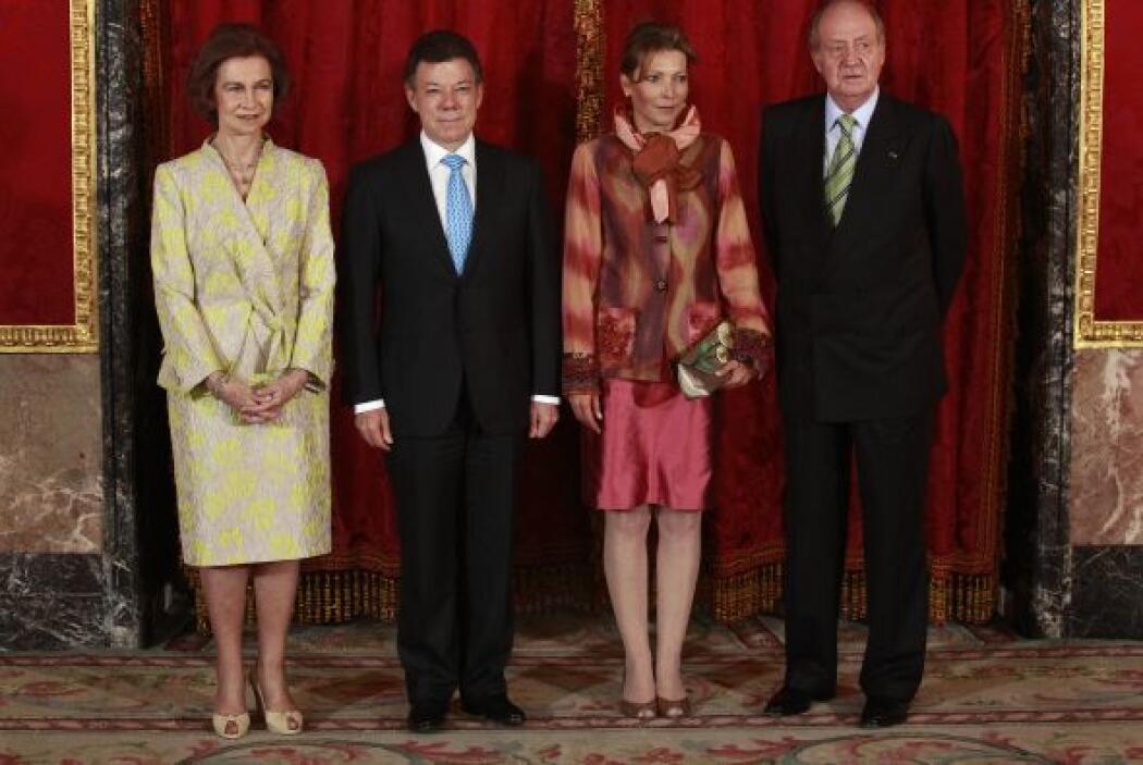Los reyes de España y la pareja presidencial de Colombia se tomaron la f...