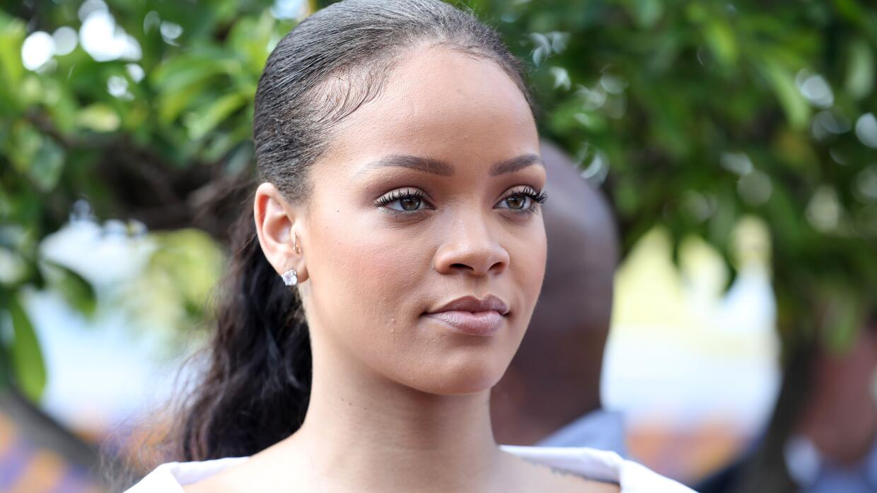 ST ANDREW, BARBADOS - DECEMBER 01: Rihanna attends the 'Man Aware' event...