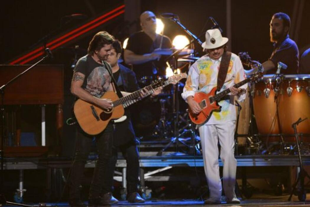 Juanes y Carlos Santana, una exquisita combinación.