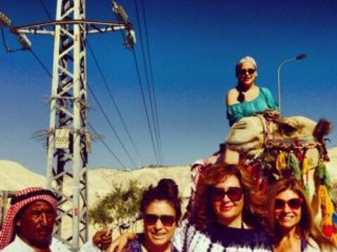 Jessica Maldonado se fue de viaje a Israel con algunos amigos, entre los...