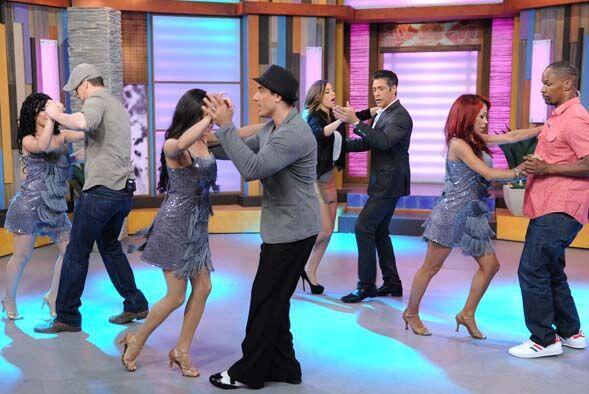 Jamie y Channing se veían muy entretenidos bailando salsa.