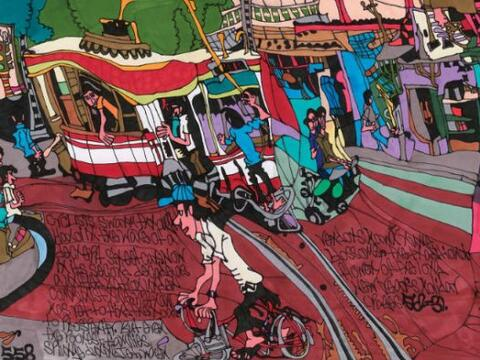 "Shawn Belanger, ""Streetcar in Hanoi""  - ""Drawing Autism""&..."