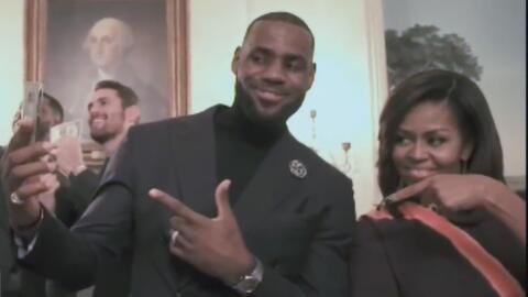 Michelle Obama hizo el 'Mannequin challenge' junto a los Cavaliers