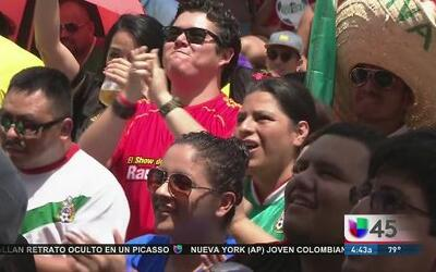 Pasión por el México vs Brasil en la fiesta futbolera de Univision 45