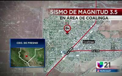 Sismo de magnitud 3.5 en Coalinga