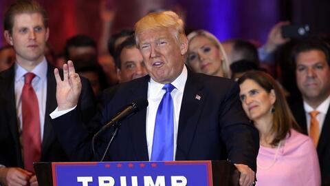Trump dice que tal vez actuará presidencial pero pensará lo mismo