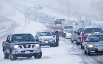 Tormenta de nieve en Iowa