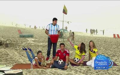 Ana, Johnny, Paul, Ximena, y Karla se fueron a la playa de Brasil