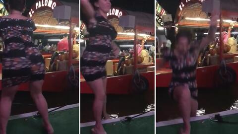 #LadyTakaTaka: Intenta verse sexy haciendo twerking y casi termina ahogada