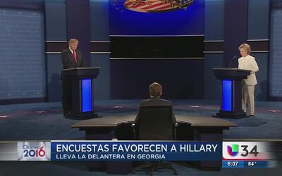 Encuestas favorecen a Hillary en Georgia