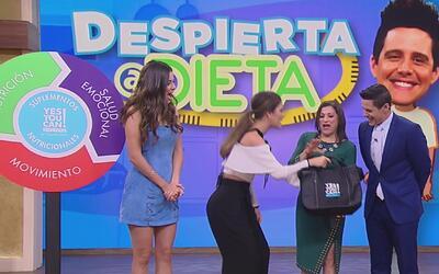 Chiqui Delgado entregó a Aura el maletín con el que cambiará otras vidas