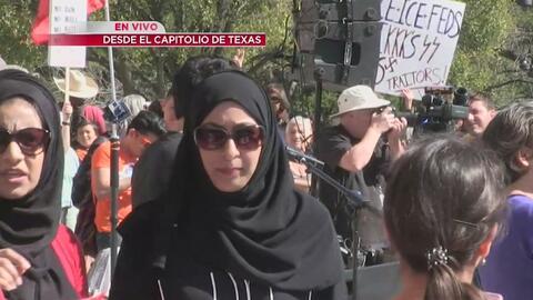 Organizadores de protesta en Texas destacan la unión entre comunidades d...