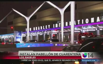 Instalan pabellón de cuarentena en Los Ángeles