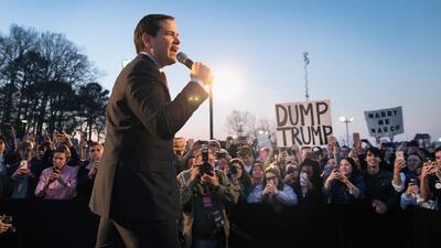 """Rubio se burla del bronceado de Trump: """"uno de los peores que he visto"""""""