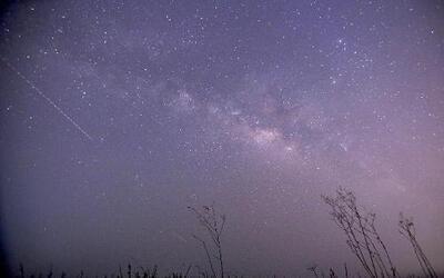 Un meteoro visto desde la Tierra en 2015.