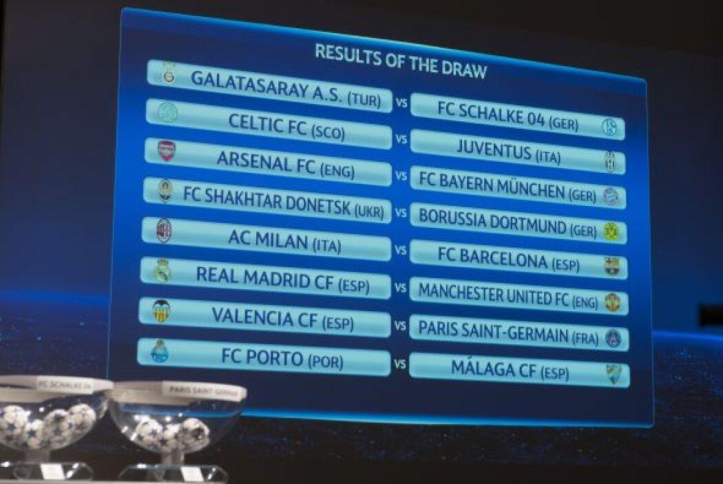 Los choques entre el Celtic y el Juventus y el Valencia contra el Paris...