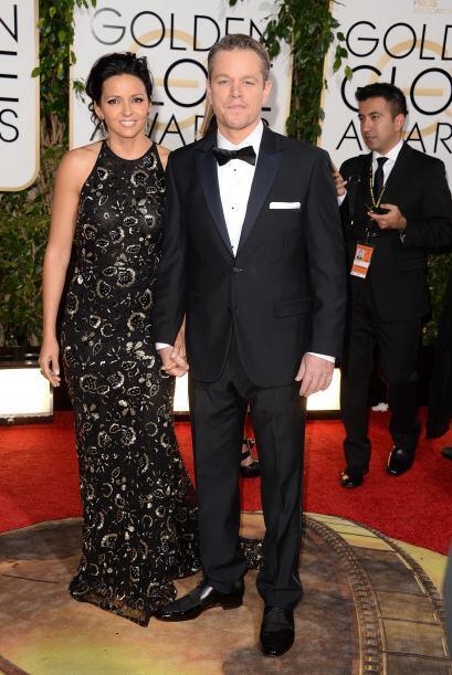 Luciana Barroso y Matt Damon, una pareja cuya elegancia siempre los acom...