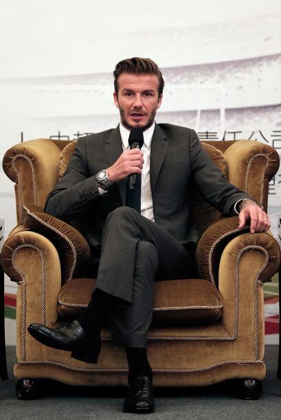 Beckham, que se encuentra en un viaje de una semana a China en calidad d...
