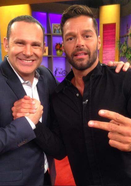 """""""Con mi brother Ricky Martin hoy en Despierta América"""",..."""
