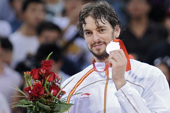 En Beijing 2008, Pau Gasol fue campeón olímpico junto con España.