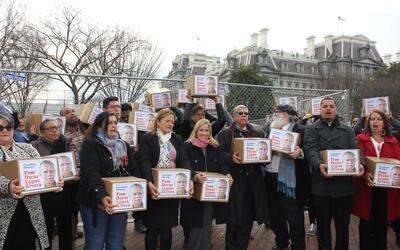 El miércoles 11 de enero, unos 200 manifestantes llevaron a la Ca...