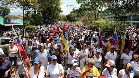 La variante que usaron los opositores en Venezuela para protestar contra...