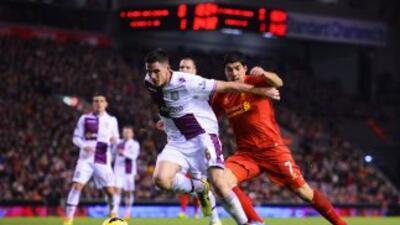 Luis Suárez y no anotó y Liverpool solo pudo empatar con Aston Villa.