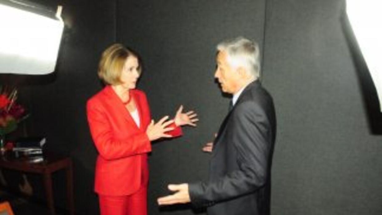 Nancy Pelosi habló con Jorge Ramos.