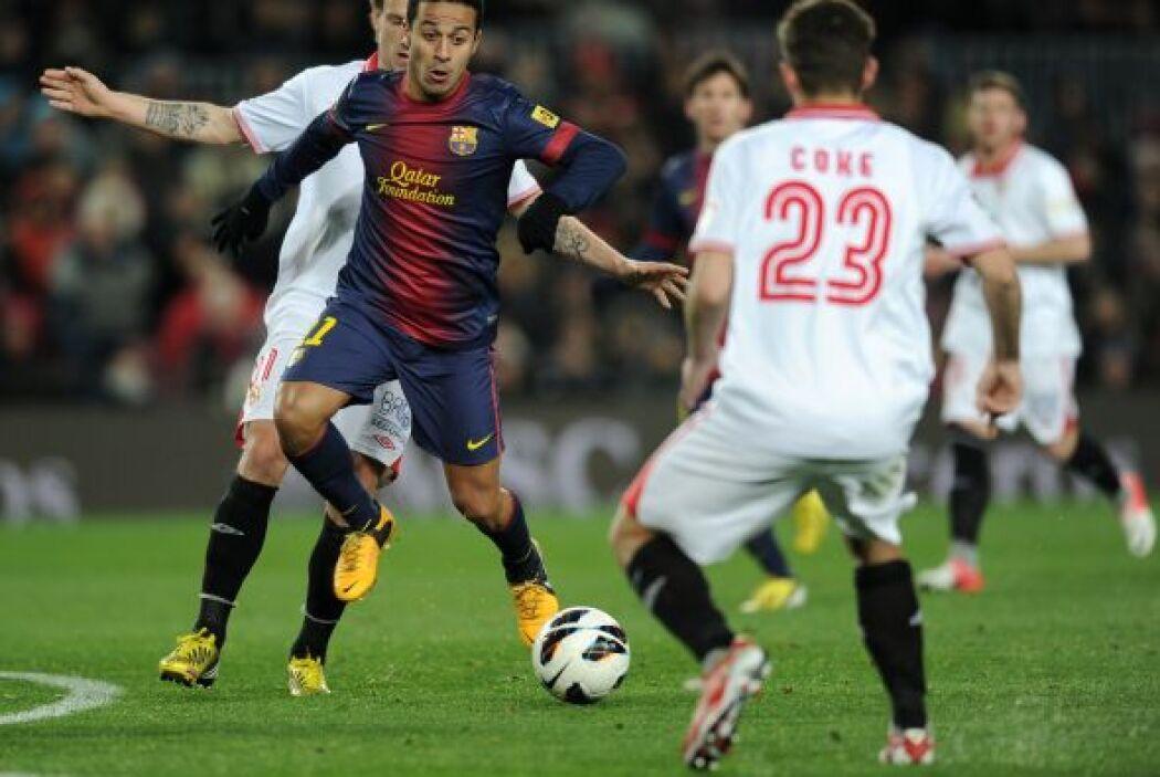 El Sevilla defendió bien mientras pudo.