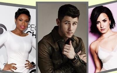 Nick Jonas, Demi Lovato y Jennifer Hudson