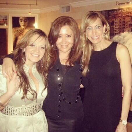 Jenni Rivera con Jessica Maldonado y Lili Estefan.