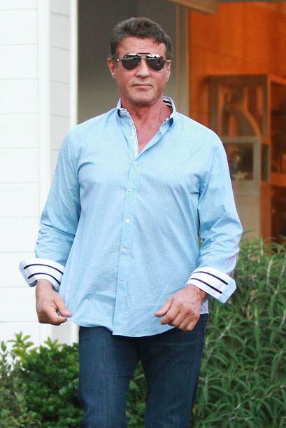 Sylvester Stallone podrá parecer un hombre serio, rudo e inquebrantable.