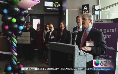 Inauguran vuelo directo entre Austin y Guadalajara